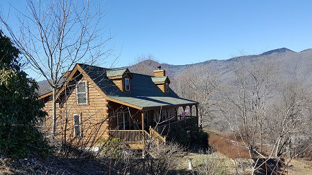 Apple Blossom Cabin Vacation Rental WNC Mountains Waynesville, Maggie Valley