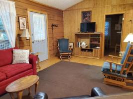 Living Room to Front of Cabin