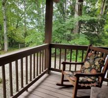 Rocking Chair and Wooded View