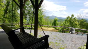 Lower Level Porch Swing with View