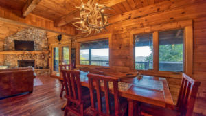 Aerial Ridge, Dining Room with Fireplace View