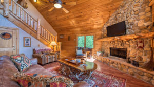 Aerial Ridge, Great Room with Fireplace (2)