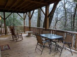 Cardinal Suite, Deck with Wooded Mountain View and Seating
