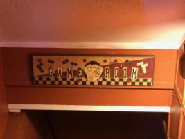Owl's Perch, Game Room sign into Basement