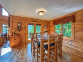 Dining Room from Kitchen with Mountain View