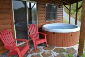 Hot Tub on Lower Porch